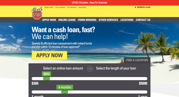 Cash Stop - Loans up to $5000