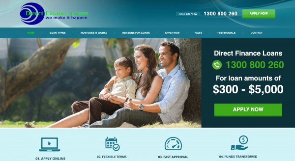 Direct Finance Loans - Loans up to $5 000
