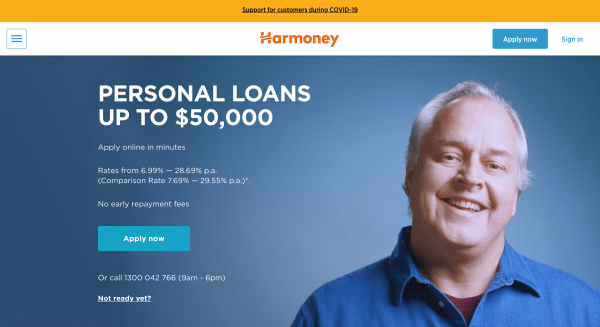 Harmoney - Loans up to $50 000